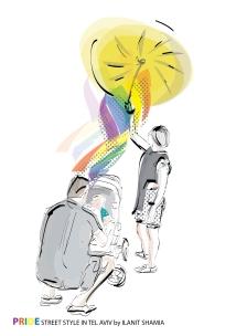 Street Style in Tel Aviv - Special Pride 2018 - Gay Family